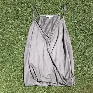 Cross Front Suede Tank Charlotte Russe